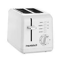 NEW Cuisinart CPT-122 2-Slice Compact Plastic Toaster  FREE