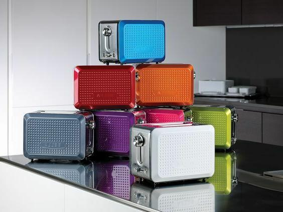 new dots collection 2 slice toaster white