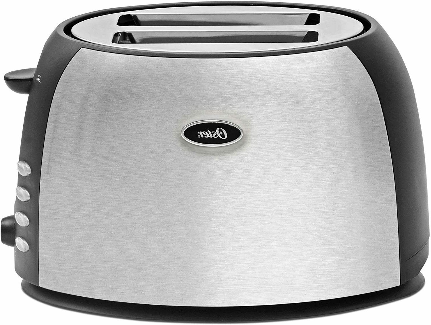 new oster 2 slice toaster brushed stainless