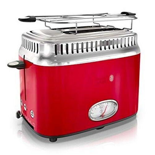 NEW Style Toaster Red & Stainless Steel