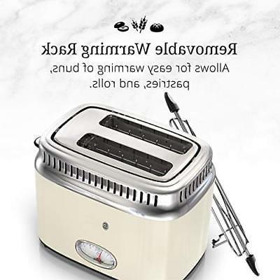 NEW Hobbs Retro Style Toaster, 2-Slice, Cream