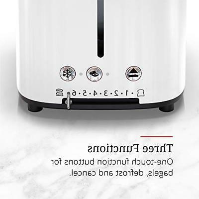 NEW Hobbs TR9150WTR Retro Style Toaster, White