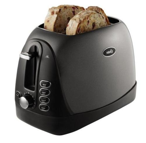 Oster 2-Slice Toaster, Black and Jelly Bean Purple New