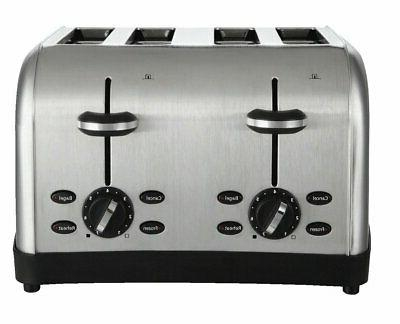 OSTER TSSTTRWF4S-SHP Toaster,4-Slot,120/127V,Stainless Steel