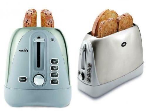 oster long slot 4 slice toaster stainless