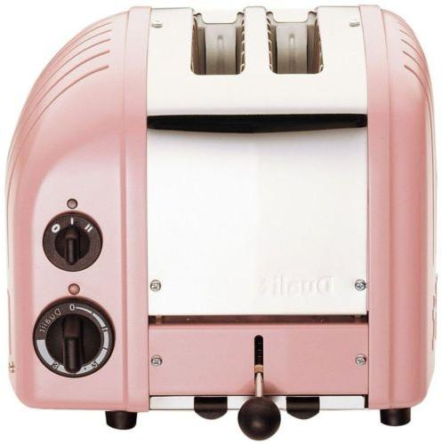 Petal Pink Toaster, 2-Slice Xtra-Wide Slots Commercial Grade