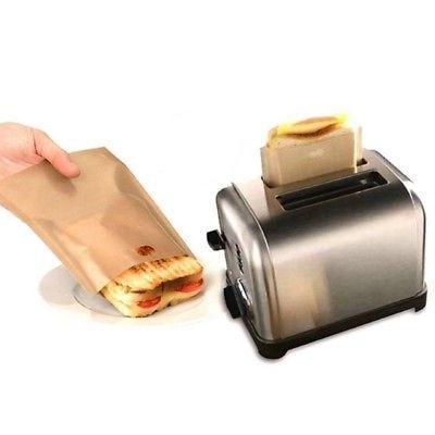 Reusable Non-stick Toaster Bag Grilled Cheese Sandwiche Brea
