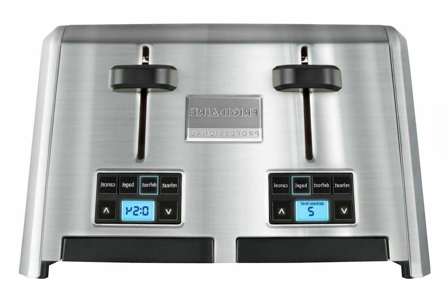 Frigidaire Wide Slots 5 Function Stainless Steel Toaster