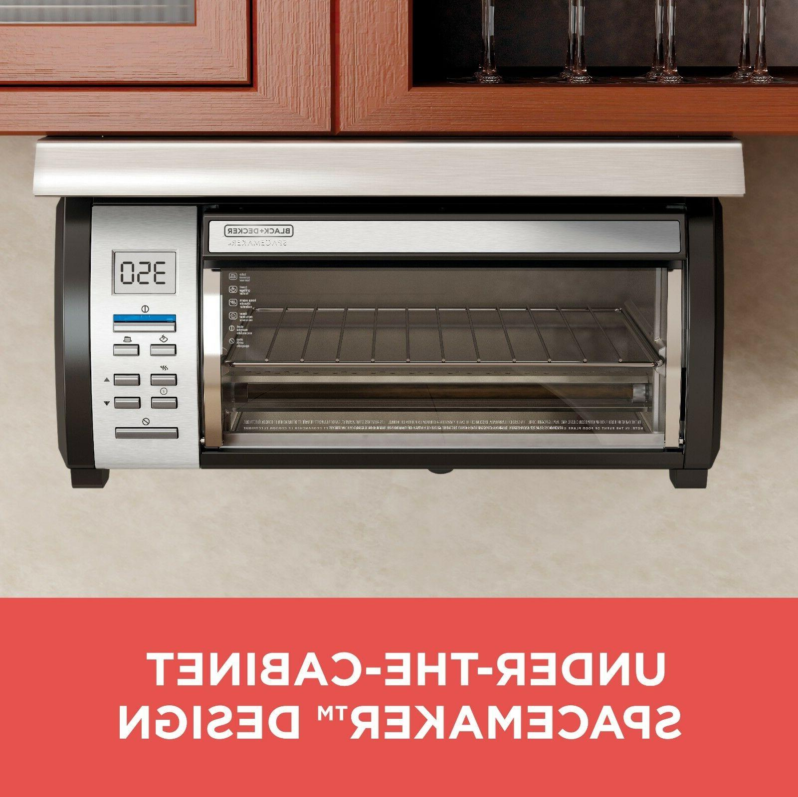 space maker under counter toaster oven digital