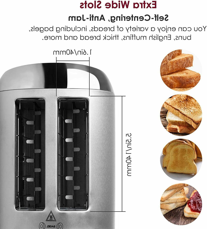 BESTEK Stainless Digital Toaster, Extra Slot