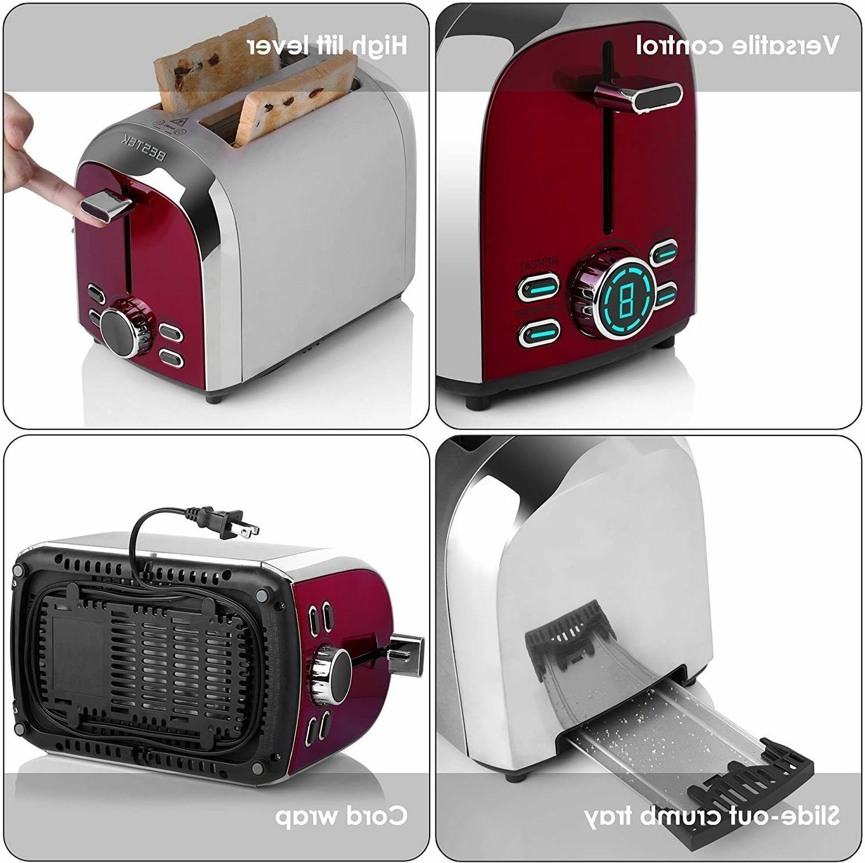 BESTEK Digital Toaster, Extra Wide Slot