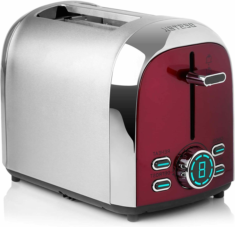 BESTEK 2-Slice Digital Toaster, Slot for Bagel