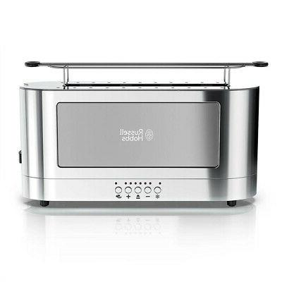 stainless steel 2 slice long toaster