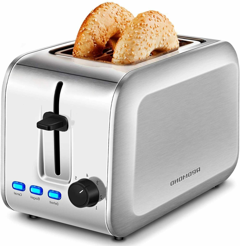 stainless steel 2 slice toaster 7 bread