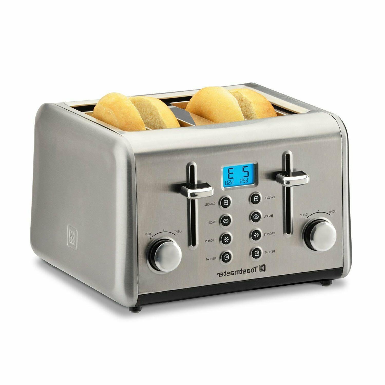 stainless steel 4 slice digital toaster