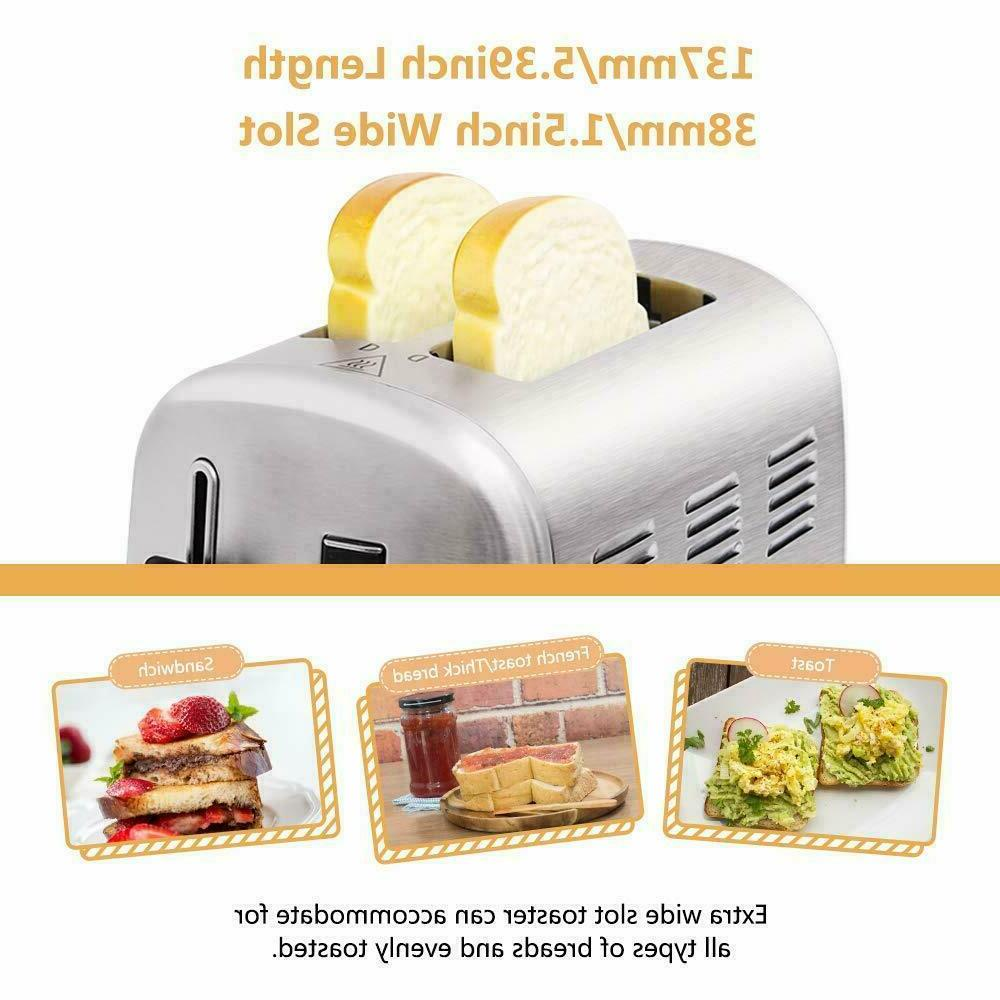 Stainless Steel Toaster 2 Slot Manual Lift Lever