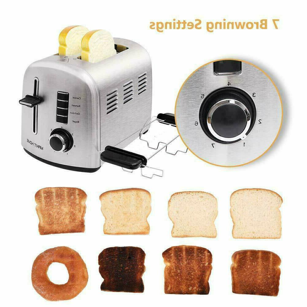 Stainless Toaster 2 Slot Manual Lever