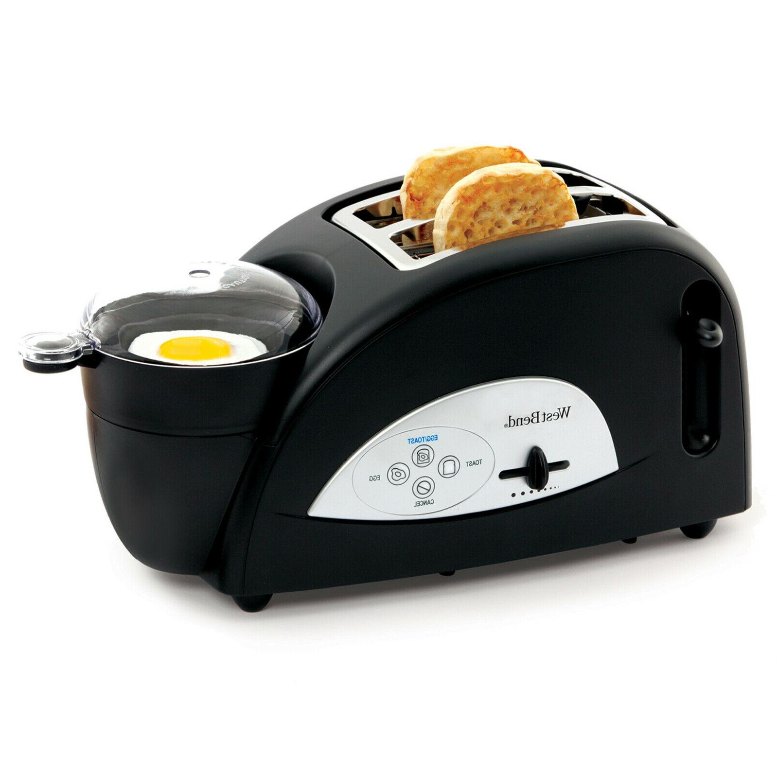 tem500w 2 slice egg muffin toaster defrost