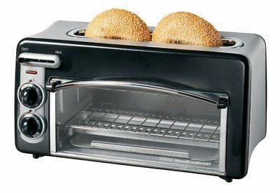 Hamilton 2 in1 Compact Toaster 2-Slice and Mini Countertop O