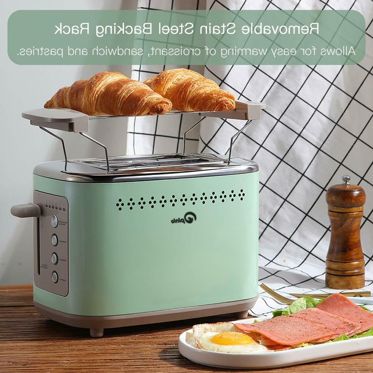 Toaster 2-Slice Stainless with Extra Wide Slots, Removable Crumb