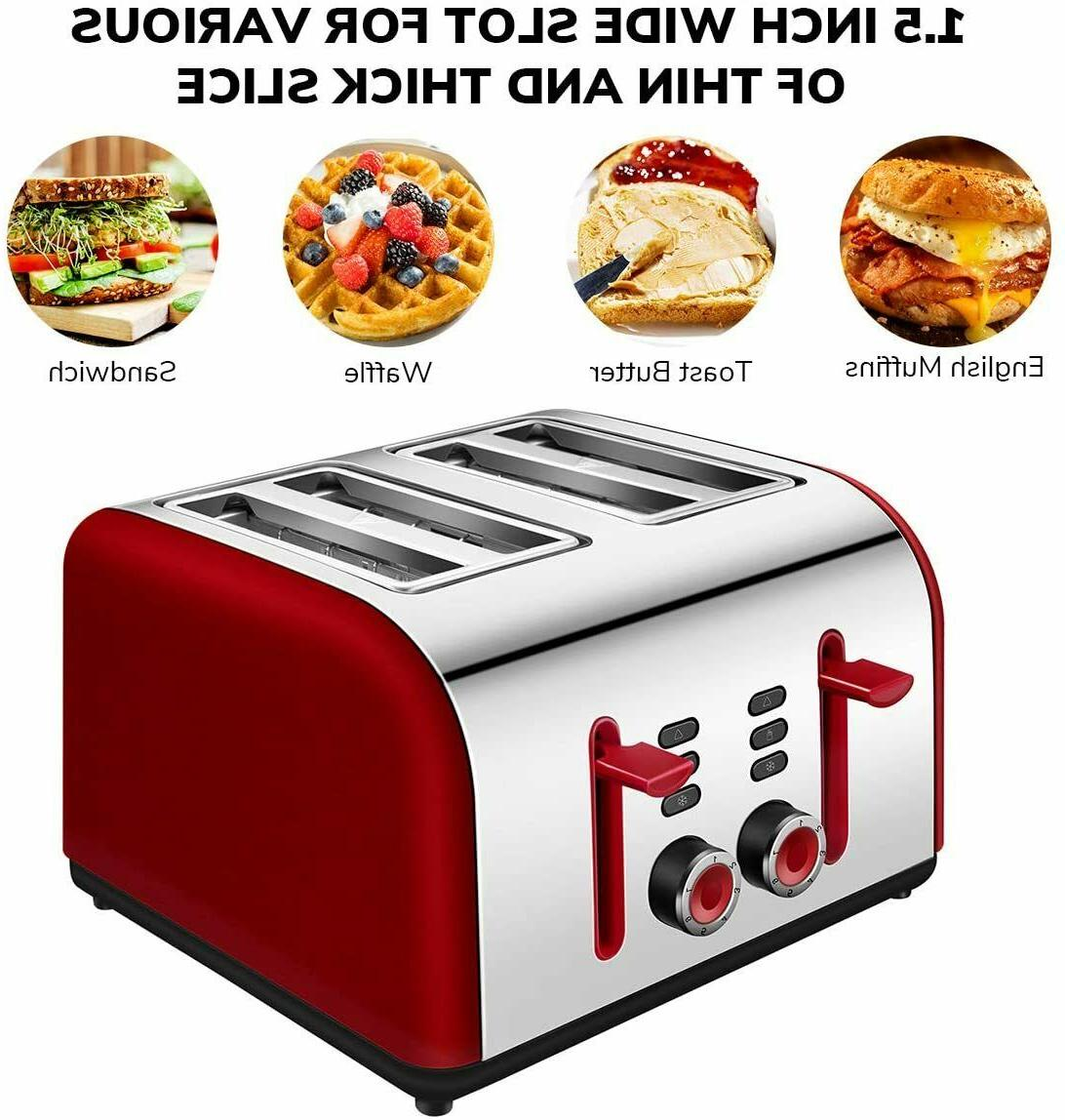 Toaster Slice, Wide Slots Stainless Toasters