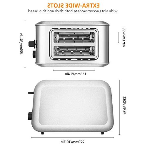 Toasters Best Rated Slots Toaster Steel Toaster Reheat Settings, Muffins, Silver by