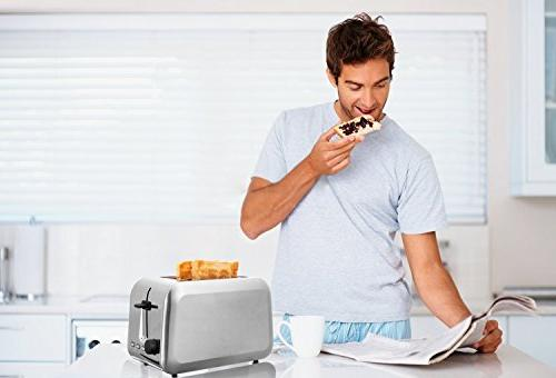 Toasters 2 Rated Toaster Stainless Bagel Toaster With Reheat Quickly Silver