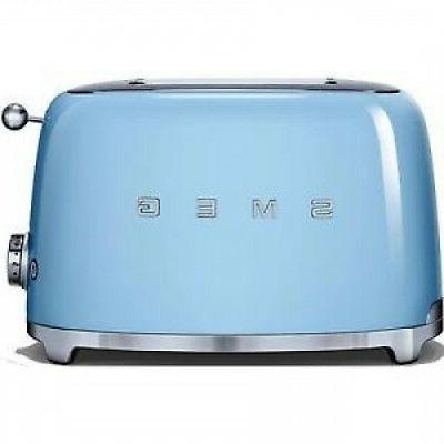 Smeg Tsf01pbuk 50's Style 2 Slice Wide Slot Defrost Toaster
