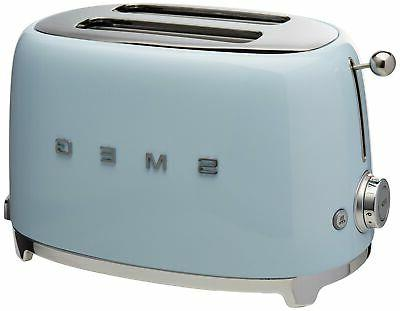 Smeg TSF01PBUS 50's Retro Style Aesthetic 2 Slice Toaster, P
