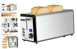 Long Slot Toaster, 4 Slice Toaster Best Rated Prime with LED