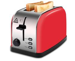 MADETEC 2 Slot Toaster with a Slide-Out Crumb Tray.
