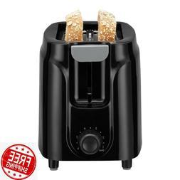 Mainstays 2-Slice Black Toaster Durable Home Kitchen Applian