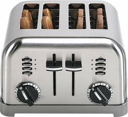 Metal Classic Toaster 4 Slice - Brushed Chrome LED Indicator