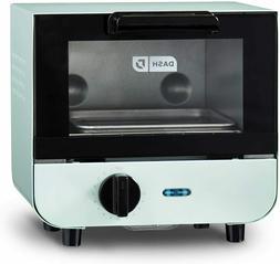 Dash Mini Toaster Oven Cooker Auto Shut Off Aqua Color 550W