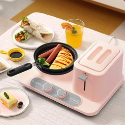Multifunctional Breakfast Machine Household 2- Slices <font>