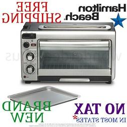 New HAMILTON BEACH 2-in-1 Combined OVEN and TOASTER 4 Slice