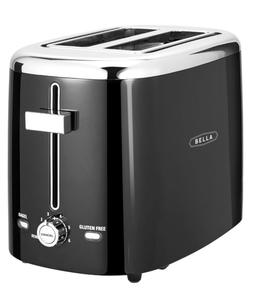New 2 Slice Extra Wide Self Centering Slot Toaster Toast Bag
