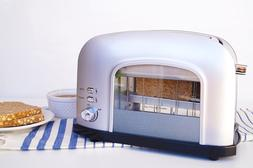 New 2-slice SIlver See-Through Automatic Toaster  Best Kitch