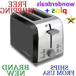 *New* WEST BEND 2-Slice TOASTER In Black/Silver Auto Shut Of