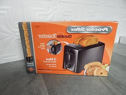 NEW Proctor Silex 22612 2-Slice Black Toaster with Shade Sel