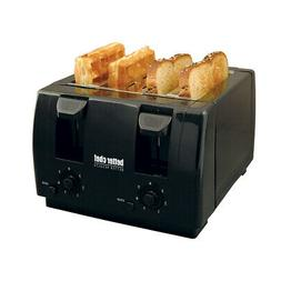 New Better Chef 4 Slice Dual-Control Black Toaster