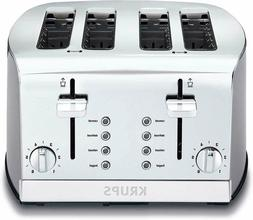 Krups 4 Slice Stainless Steel Toaster Retro 4 Functions Box