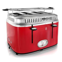 NEW Russell Hobbs 4 Slice Toaster Retro Style Red Model TR92
