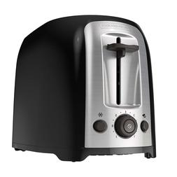 NEW! BLACK+DECKER 2-Slice Extra Wide Slot Toaster, Classic O