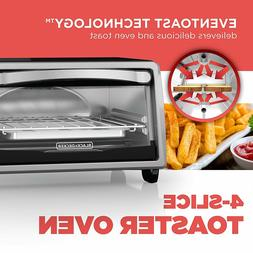 NEW! BLACK+DECKER 4 SLICE ELECTRIC GENERAL TOASTER OVEN NATU