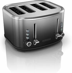 4-Slice Extra-Wide Slot Toaster, Stainless Steel, Ombré Fin