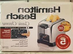 New Hamilton Beach Classic Chrome 2 Slice Toaster 22790