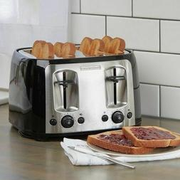 NEW DECKER 4-Slice Toaster,with kit Extra-Wide Slots,Black/S