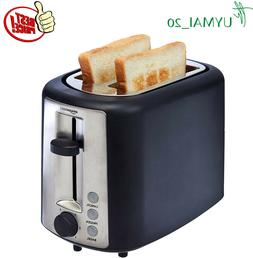 NEW Extra-Wide Slot Toaster 2-Slice Black  with Browning 6 s