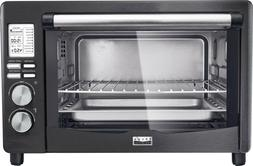 NEW Bella - Pro Series 6-Slice Toaster Oven - Black stainles